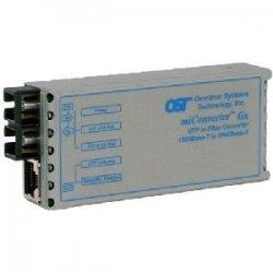 Omnitron - 1211-1-6 - miConverter 1000Mbps Gigabit Ethernet Single-Fiber Media Converter RJ45 SC Single-Mode BiDi 20km - 1 x 1000BASE-T, 1 x 1000BASE-BX-D (1550/1310), USB Powered, Lifetime Warranty