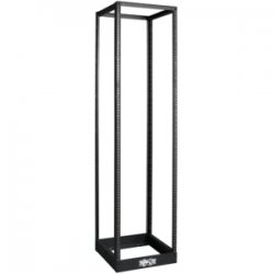 "Tripp Lite - SR4POST1224 - Tripp Lite 45U 4-Post Open Frame Rack Cabinet Threaded 12-24 Mounted Holes - 19"" 45U Wide - Black - Cold-rolled Steel (CRS) - 1000 lb x Static/Stationary Weight Capacity"