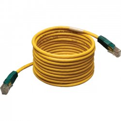 Tripp Lite - N010-025-YW - Tripp Lite 25ft Cat5e Cat5 Molded Snagless Crossover Patch Cable RJ45 Yellow 25' - Category 5e for Network Device - 25ft - 1 x RJ-45 Male Network - 1 x RJ-45 Male Network - Yellow
