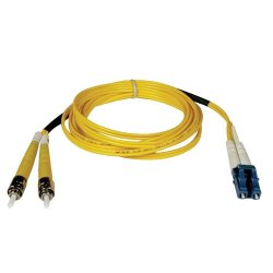 Tripp Lite - N368-03M - Tripp Lite 3M Duplex Singlemode 8.3/125 Fiber Optic Patch Cable LC/ST 10' 10ft 3 Meter - LC Male Network - ST Male Network - 9.84ft