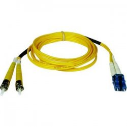 Tripp Lite - N368-15M - Tripp Lite 15M Duplex Singlemode 8.3/125 Fiber Optic Patch Cable LC/ST 50' 50ft 15 Meter - LC Male - ST Male - 49ft - Yellow