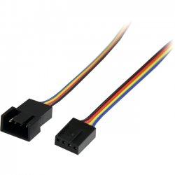 StarTech - FAN4EXT12 - StarTech.com 12in 4 Pin Fan Power Extension Cable - M/F - 12 - Molex - Molex