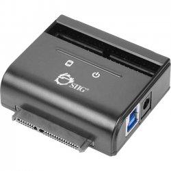"""SIIG - JU-SA0G11-S1 - SIIG JU-SA0G11-S1 Drive Dock External - Black - 1 x Total Bay - 1 x 2.5""""/3.5"""" Bay - USB 3.0"""