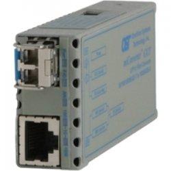 Omnitron - 1239-0-3 - miConverter 10/100/1000 Gigabit Ethernet Fiber Media Converter RJ45 SFP - 1 x 10/100/1000BASE-T; 1 x 1000BASE-X (SFP); Euro. AC Powered; Lifetime Warranty