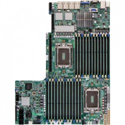 Supermicro - MBD-H8DGU-LN4F+-O - Supermicro H8DGU-LN4F+ Server Motherboard - AMD SR5690 Chipset - Socket G34 LGA-1944 - Retail Pack - Proprietary Form Factor - 2 x Processor Support - 768 GB DDR3 SDRAM Maximum RAM - 1.33 GHz Memory Speed Supported - 24 x