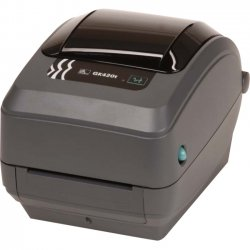"Zebra Technologies - GK42-102520-000 - Zebra GK420t Direct Thermal/Thermal Transfer Printer - Monochrome - Desktop - Label Print - 4.09"" Print Width - 5 in/s Mono - 203 dpi - 8 MB - USB - Serial - Parallel - 4.25"" Label Width - 39"" Label Length"
