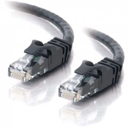 C2G (Cables To Go) - 22014 - 15ft Cat6 Snagless Unshielded (UTP) Ethernet Network Patch Cable - Black - Category 6 for Network Device - RJ-45 Male - RJ-45 Male - 15ft - Black