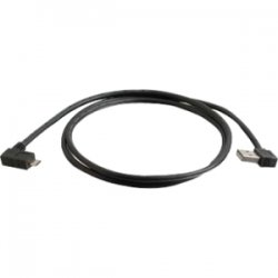 """C2G (Cables To Go) - 28115 - C2G 3m USB A to Micro-USB B Cable with Right Angeled Connectors-USB 2.0 10ft - USB for Cellular Phone, PDA, Camera - 9.84 ft - 1 x Type A Male USB - 1 x Micro Type B Male USB - Black"""""""""""