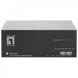 CP Tech / Level One - NVR-0204 - LevelOne NVR-0204 Network Video Recorder 4-CH - Digital Video Recorder - Motion JPEG, MPEG-4, H.264 Formats
