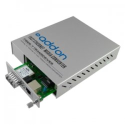 AddOn - ADD-MCCTXSFP - AddOn 10/100/1000Base-TX(RJ-45) with Open SFP Slot Media Converter Card for our rack or standalone Systems - 100% compatible and guaranteed to work