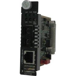 Perle Systems - 05041970 - Perle C-1110-M2SC2 Media Converter - 1 x Network (RJ-45) - 1 x SC Ports - 10/100/1000Base-T, 1000Base-LX - Internal
