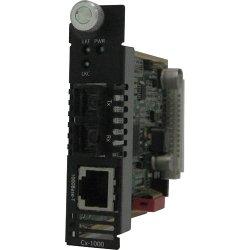 Perle Systems - 05042940 - Perle CM-1000-M2SC2 Media Converter - 1 x Network (RJ-45) - 1 x SC Ports - 10/100/1000Base-T, 1000Base-LX - Internal