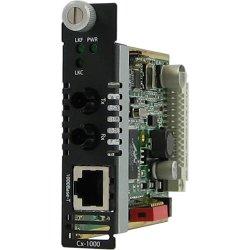 Perle Systems - 05042950 - Perle CM-1000-M2ST2 Media Converter - 1 x Network (RJ-45) - 1 x ST Ports - 1000Base-T, 1000Base-LX - Internal