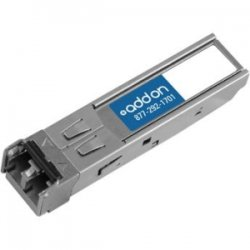 AddOn - SFP-10GE-SR-AO - AddOn Juniper Networks SFP-10GE-SR Compatible TAA Compliant 10GBase-SR SFP+ Transceiver (MMF, 850nm, 300m, LC, DOM) - 100% application tested and guaranteed compatible