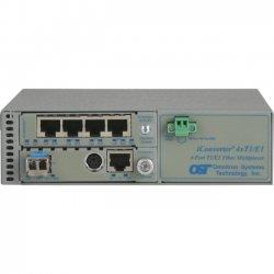 Omnitron - 8839N-0-B - Omnitron Systems iConverter Multiplexer - 4 Data Channels - 1 Gbit/s - 1 x RJ-45