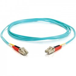 C2G (Cables To Go) - 11001 - C2G-2m LC-LC 10Gb 50/125 OM3 Duplex Multimode Fiber Optic Cable (TAA Compliant) - Aqua - Fiber Optic for Network Device - LC Male - LC Male - 10Gb - 50/125 - Duplex Multimode - OM3 - 10GBase-SR, 10GBase-LRM - TAA Compliant -