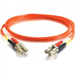 C2G (Cables To Go) - 11030 - C2G-1m LC-LC 50/125 OM2 Duplex Multimode Fiber Optic Cable (TAA Compliant) - Orange - Fiber Optic for Network Device - LC Male - LC Male - 50/125 - Duplex Multimode - OM2 - TAA Compliant - 1m - Orange