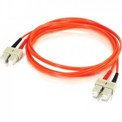 C2G (Cables To Go) - 11075 - 10m SC-SC 50/125 OM2 Duplex Multimode Fiber Optic Cable (TAA Compliant) - Orange - Fiber Optic for Network Device - SC Male - SC Male - 50/125 - Duplex Multimode - OM2 - TAA Compliant - 10m - Orange
