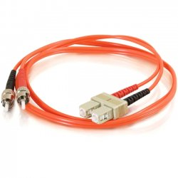 C2G (Cables To Go) - 11078 - C2G-1m SC-ST 50/125 OM2 Duplex Multimode Fiber Optic Cable (TAA Compliant) - Orange - Fiber Optic for Network Device - SC Male - ST Male - 50/125 - Duplex Multimode - OM2 - TAA Compliant - 1m - Orange