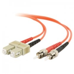 C2G (Cables To Go) - 11080 - C2G-3m SC-ST 50/125 OM2 Duplex Multimode Fiber Optic Cable (TAA Compliant) - Orange - Fiber Optic for Network Device - SC Male - ST Male - 50/125 - Duplex Multimode - OM2 - TAA Compliant - 3m - Orange