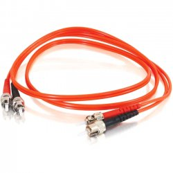 C2G (Cables To Go) - 11096 - C2G-7m ST-ST 50/125 OM2 Duplex Multimode Fiber Optic Cable (TAA Compliant) - Orange - Fiber Optic for Network Device - ST Male - ST Male - 50/125 - Duplex Multimode - OM2 - TAA Compliant - 7m - Orange