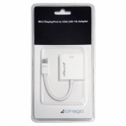 "Global Marketing Partners - DPN2012 - Cirago Video Cable - DisplayPort/VGA for TV, Projector, Monitor - 4"" - 1 x Mini DisplayPort Male Digital Audio/Video - 1 x HD-15 Female VGA"