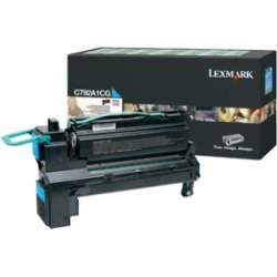 Lexmark - X792X4CG - Lexmark X792X4CG Toner Cartridge - Cyan - Laser - Extra High Yield - 20000 Page - 1 / Pack