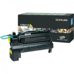 Lexmark - X792X4YG - Lexmark X792X4YG Toner Cartridge - Yellow - Laser - 20000 Pages - 1 Pack