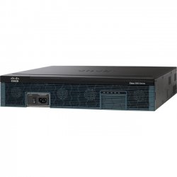 Cisco - CISCO2921/K9-RF - Cisco 2921 Integrated Service Router - Refurbished - 3 Ports - Management Port - PoE Ports - 12 Slots - Gigabit Ethernet - 2U - Rack-mountable, Desktop