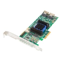 Adaptec - 2271800-R - Microsemi Adaptec 6805E 8-port SAS RAID Controller - Serial ATA/600, 6Gb/s SAS - PCI Express 2.0 x4 - Plug-in Card - RAID Supported - 0, 1, 10, 1E, JBOD RAID Level - 8 Total SAS Port(s) - 8 SAS Port(s) Internal