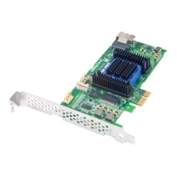 Adaptec - 2270800-R - Microsemi Adaptec RAID 6405E Single - 6Gb/s SAS - PCI Express 2.0 x1 - Plug-in Card - RAID Supported - JBOD, 0, 1, 10, 1E RAID Level - 4 Total SAS Port(s) - 4 SAS Port(s) Internal - 128 MB