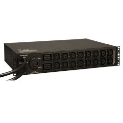 Tripp Lite - PDUMH30HVAT - Tripp Lite PDU Metered ATS 208/240V 30A 16 C13; 2 C19; 1 L6-30R 2U RM TAA - 2UHorizontal Rackmount