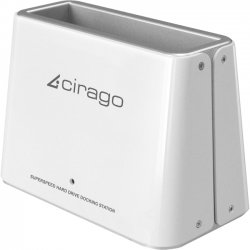 "Global Marketing Partners - CDD2000 - Cirago CDD2000 Drive Dock External - White - 1 x Total Bay - 1 x 2.5""/3.5"" Bay - USB 3.0"