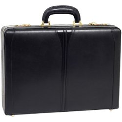 """McKlein / Siamod - 80485 - McKleinUSA Turner 80485 Carrying Case (Attaché) for File Folder, Business Card, Cellular Phone, Pen, Calculator - Black - Leather - Handle, Hand Strap - 13"""" Height x 18"""" Width x 4.5"""" Depth"""