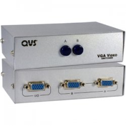 QVS - CA298-2P - QVS VGA Switch - 1280 x 1024 - SXVGA - 2 x 11 x VGA Out