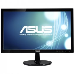 "Asus - VS208N-P - Asus VS208N-P 20"" LED LCD Monitor - 16:9 - 5 ms - Adjustable Display Angle - 1600 x 900 - 16.7 Million Colors - 250 Nit - 50,000,000:1 - HD+ - DVI - VGA - 14 W - Black - EPEAT Gold"