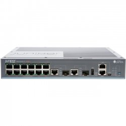 Juniper Networks - EX2200-C-12T-2G - Juniper EX2200-C Layer 3 Switch - 12 Ports - Manageable - 2 x Expansion Slots - 10/100/1000Base-T, 10/100Base-TX - Uplink Port - 12 x Network, 2 x Uplink, 2 x Expansion Slot - Twisted Pair, Optical Fiber - Gigabit