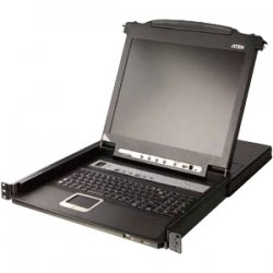 "Aten Technologies - CL5716N - Aten Rack Mount LCD - 16 Computer(s) - 19"" LCD - 1280 x 1024 - 1 x USB - Yes - Yes - TouchPad"