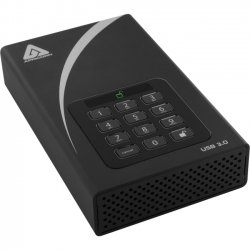 Apricorn - ADT-3PL256-2000 - Apricorn Aegis Padlock ADT-3PL256-2000 2 TB 3.5 External Hard Drive - USB 3.0 - 7200rpm - 8 MB Buffer