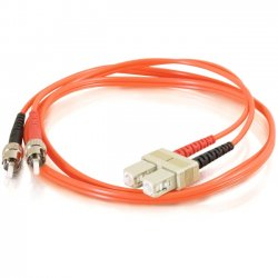 C2G (Cables To Go) - 11158 - 8m SC-ST 62.5/125 OM1 Duplex Multimode Fiber Optic Cable (TAA Compliant) - Orange - Fiber Optic for Network Device - SC Male - ST Male - 62.5/125 - Duplex Multimode - OM1 - TAA Compliant - 8m - Orange