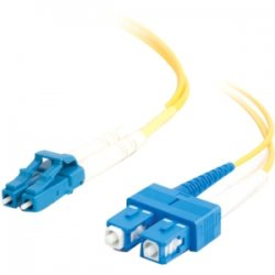 C2G (Cables To Go) - 11197 - 15m LC-SC 9/125 OS1 Duplex Singlemode Fiber Optic Cable (TAA Compliant) - Yellow - Fiber Optic for Network Device - LC Male - SC Male - 9/125 - Duplex Singlemode - OS1 - TAA Compliant - 15m - Yellow