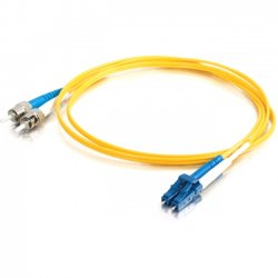 C2G (Cables To Go) - 11200 - C2G-2m LC-ST 9/125 OS1 Duplex Singlemode Fiber Optic Cable (TAA Compliant) - Yellow - Fiber Optic for Network Device - LC Male - ST Male - 9/125 - Duplex Singlemode - OS1 - TAA Compliant - 2m - Yellow