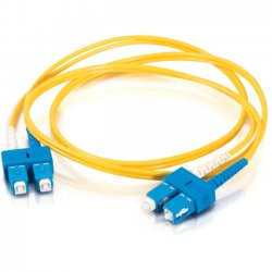 C2G (Cables To Go) - 11212 - 1m SC-SC 9/125 OS1 Duplex Singlemode Fiber Optic Cable (TAA Compliant) - Yellow - Fiber Optic for Network Device - SC Male - SC Male - 9/125 - Duplex Singlemode - OS1 - TAA Compliant - 1m - Yellow