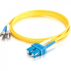 C2G (Cables To Go) - 11231 - C2G-8m SC-ST 9/125 OS1 Duplex Singlemode Fiber Optic Cable (TAA Compliant) - Yellow - Fiber Optic for Network Device - SC Male - ST Male - 9/125 - Duplex Singlemode - OS1 - TAA Compliant - 8m - Yellow