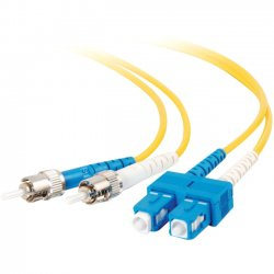 C2G (Cables To Go) - 11235 - C2G-20m SC-ST 9/125 OS1 Duplex Singlemode Fiber Optic Cable (TAA Compliant) - Yellow - Fiber Optic for Network Device - SC Male - ST Male - 9/125 - Duplex Singlemode - OS1 - TAA Compliant - 20m - Yellow
