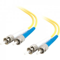 C2G (Cables To Go) - 11247 - 20m ST-ST 9/125 OS1 Duplex Singlemode Fiber Optic Cable (TAA Compliant) - Yellow - Fiber Optic for Network Device - ST Male - ST Male - 9/125 - Duplex Singlemode - OS1 - TAA Compliant - 20m - Yellow