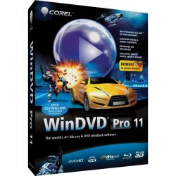 Corel - WDPR11ENMB - Corel WinDVD v.11.0 Pro - Complete Product - 1 User - Multimedia Player - Standard - Mini Box - Retail - PC - English