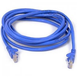 Belkin / Linksys - A3L980B25-BLU-S - Belkin Cat. 6 UTP Patch Cable - RJ-45 Male - RJ-45 Male - 25ft