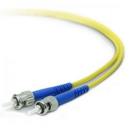 Belkin / Linksys - F2F80200-01M - Belkin Fiber Optic Duplex Patch Cable - ST Male - ST Male - 3.28ft - Yellow
