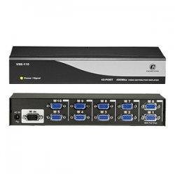 ConnectPro - VSE-110 - Connectpro VSE-110, 10-port 400MHz Video Splitter - 1 x Video In, 10 x Video Out - 2048 x 1536 - VGA, SVGA, XGA, SXGA, UXGA, WUXGA, WSXGA+, QXGA